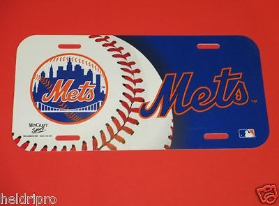NEW 2004 OFFICIAL LISCENCED MLB NEW YORK METS CAR TAG PLATE -SHARP LOOKING