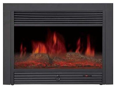 "28"" INSERT ELECTRIC FIREPLACE; 1500 WT; SAFE CUTOFF; REMOTE, CSA/UL, WARRANTY"