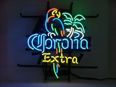 Corona Extra Parrot Neon Light. 19in by 15in larger size. Ships Free With USPS