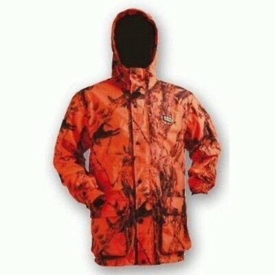 Ridgeline Mallard Waterproof Hunting Jacket Blaze Orange Camo