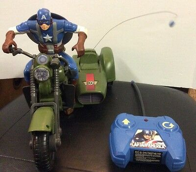 Captain America The First Avenger Remote Control Motor Bike **RARE**