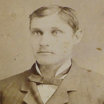 Michigan: 1880s CDV Photo Portait of Young Man by Wolcott of Escanaba