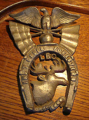 RARE Ind't Order of Foresters Lodge Brothers Canada DOOR PLAQUE Metal IOF / LBC