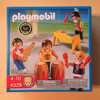 NEW Playmobil Set 4329 School Band Drums Guitar Children Musical Instruments