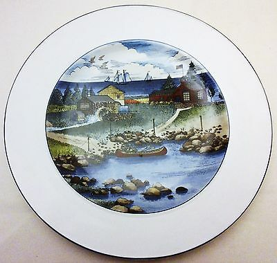 "Epoch Exclusives by Noritake Three (3) 8 1/4"" Lunch or Salad Plates Pioneer Bay"
