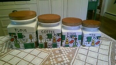 Vintage Sanbo of Spain Canisters