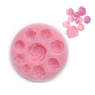 3D Rose Flower Silicone Mould Chocolate Candy Cake Decorating Fondant Icing Tool