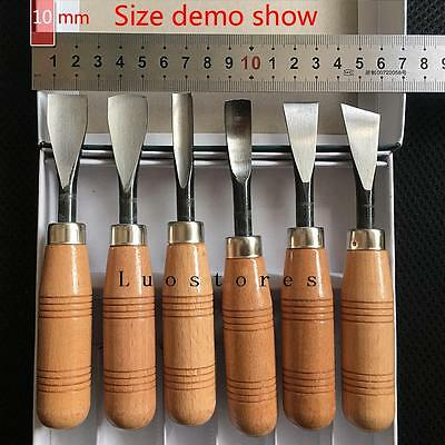 NEW 6pcs Set Hand Wood Carving Chisels Knife DIY Tools For Lathe Woodcut Working