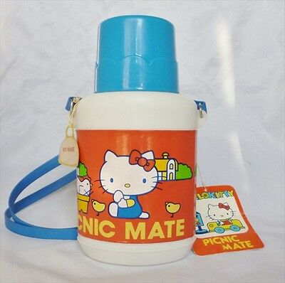 Sanrio Hello Kitty Vintage Dead stock 1976 Water bottle From Japan VERY RARE