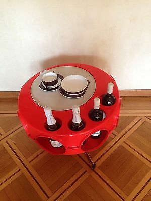 """Space Age table bar """"Rotobar"""" by Curver Brunssum 1970"""