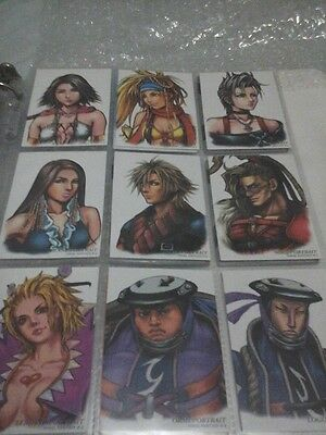 FINAL FANTASY ART MUSEUM 5TH EDITION COMPLETE COMMON CARDS FFX X-2 triple triad