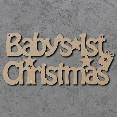 Babys First Christmas Sign - Wooden Laser Cut mdf Craft Blanks / Shapes