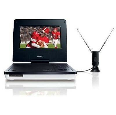 "Philips 7"" Widescreen HDTV LCD Portable DVD Player & Digital TV~NEW~PET729/37"