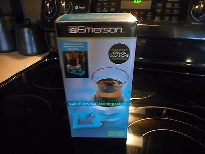 NEW IN BOX EMERSON SPIN THE SHOT DRINKING GAME INCLUDES SHOT GLASS