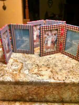 Vera Bradley Double Picture Frames Lot of  3  4x6