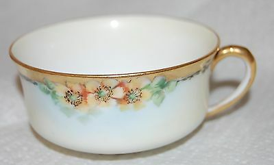 3 Beautiful Porcelain Cups Yellow Floral Heinrich H&Co Selb Bavaria Fine China