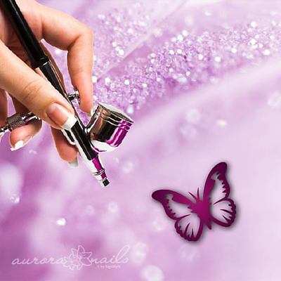 Airbrush Sticky Templates - NAILART - SVG33 - Butterfly Butterfly Fly 80x