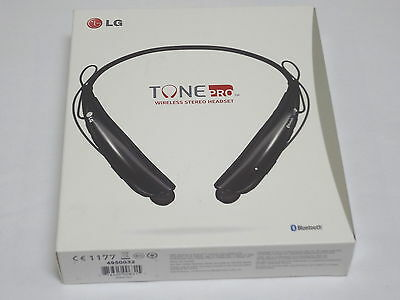 LG Tone ProBluetoot  Wireless Stereo Headset Black HBS750.AC Excellent Condition
