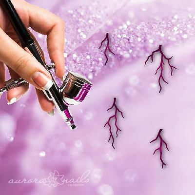 Airbrush sticky templates M516 NAILART Thunderstorm Lightning Flashes Of Summer