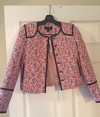 New Jcrew Pink Floral Quilted Jacket Blazer 00