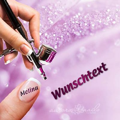 Airbrush sticky templates - Nailart - Letters Request Text Name - 40 Stencils