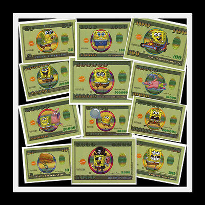 BOGO~BUY 1 GET 1 FREE~SPONGEBOB MONEY ADULT PRANK STICKER~GAG GIFT~PARTY FAVOR