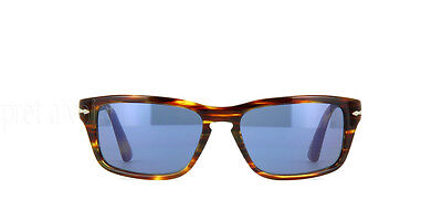 PERSOL Sunglasses New Authentic PO 3074 938/56 Havana Blue Film Noir 58mm