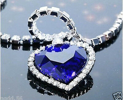 Heart Of The Ocean Titanic Necklace Big Crystal Heart Valentine's Day Lover Gift