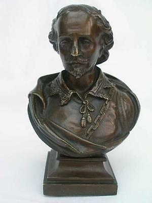 A Good Late 19th Century Bronze Bust Study of Shakespeare.