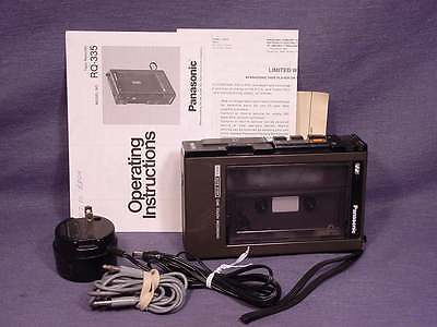 Vintage Panasonic Model RQ-335 Tape Cassette Auto One Touch Recorder Plus EXTRAS