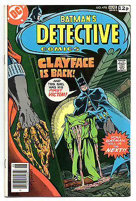 Detective Comics No 478 Aug 1978 (FN) Marshall Rogers art, 1st Clayface III