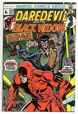 Daredevil Vol 1 No 104 Oct 1973 (FN+) Marvel Comics, Bronze Age (1970 - 1979)
