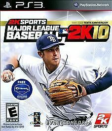 G Major League Baseball 2K10  (Sony Playstation 3, 2010) Evan 3 Longoria