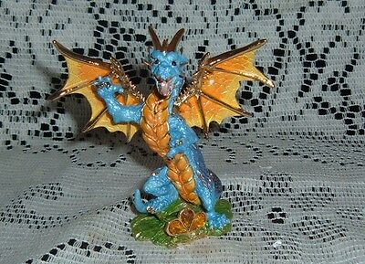 PEWTER  CRYSTAL MEMENTOS DRAGON FIGURINE SQUAMA 8066 THE TUDOR MINT NEW