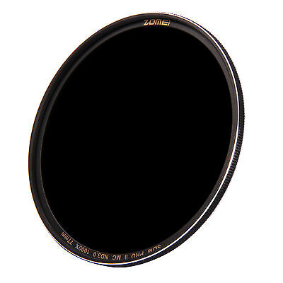 Zomei 67mm Sliver Rimmed Multi-Coated Glass Neutral Density ND1000(3.0) Filter