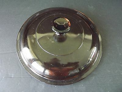 """Pyrex Vision Corning Ware Amber Brown Replacement Lid,Pyrex V 1.5-C  7⅜"""""""