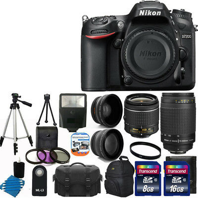 Nikon D7200 Digital SLR Camera +4 Lens 18-55mm VR 70-300 +24GB Best Value Bundle