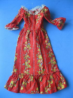 Vintage Barbie Doll Mod FLORAL PEASANT DRESS Pleasantly Peasanty #3360 Clothes