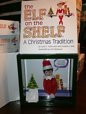 Elves on the Shelf A Christmas Tradition White GIRL ELF Blue Eyes w Book NEW!