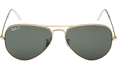 Exclusive Sale! Ray Ban Sunglasses Rb3025 00158 Gold Green Polarized 00158 55 Mm