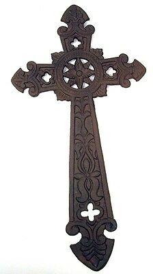 CAST IRON CROSS WALL HANGING Large Decorative Metal Wall Art NEW