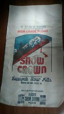 Vintage Snow Crown Happyvale Flour Mills 10lb Sack