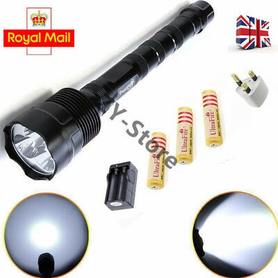 UK Trust Fire 3800LM 3x XML T6 LED Flashlight Torch Rechargeable 18650 Lamp