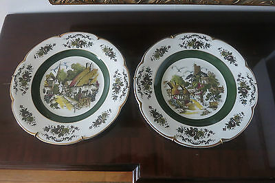 Set of 2 Wood and Sons Collectible Ascot Service Plates