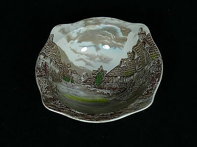 "Vintage Olde English Country Side By Johnson Brothers 9"" Serving Bowl Squared"