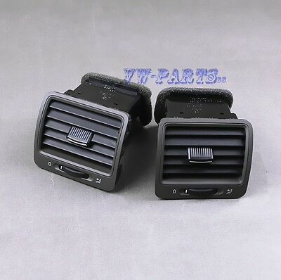 New 2x OE Grey Front L & R Air Outlet Vent Set For VW Golf GTI Jetta MK5 Rabbit