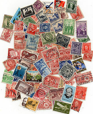 Australian collection of over 100 used pre-decimal stamps. One or two sets.