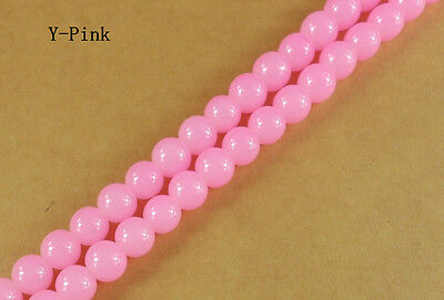 200Pcs 4mm Pink Solid Glass Pearl Round Spacer Loose Beads DIY Craft