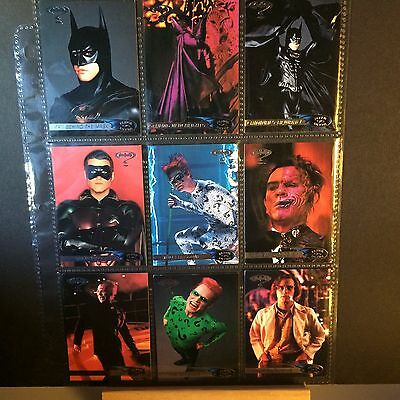 BATMAN FOREVER MOVIE TRADING CARDS FLEER 1995 ULTRA 66 CARDS SOME DUBBLES