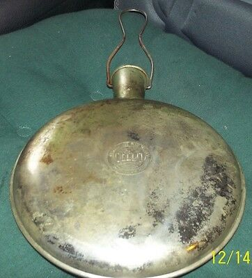 Vtg A.S. Campbell Co, Cello Sanitary Hot Water Bottle, Bed Warmer, Metal